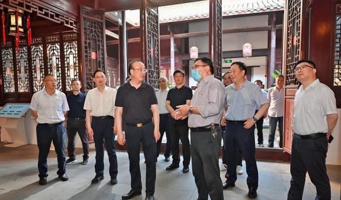 市委书记张祥安到迎江区实地调研文化旅游产业发展情况